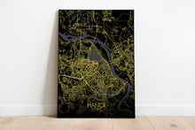 Load image into Gallery viewer, Mapospheres Hanoi Night full page design poster city map