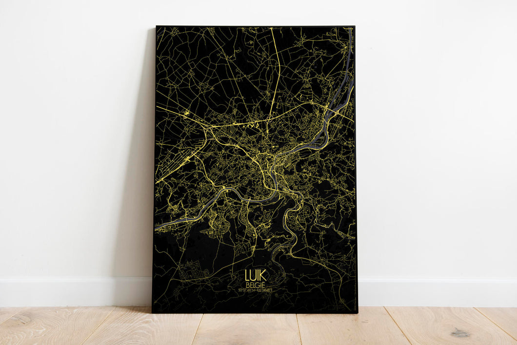 Mapospheres Liege Night full page design poster city map