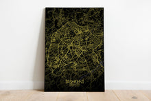 Load image into Gallery viewer, Mapospheres Tashkent Night full page design poster city map