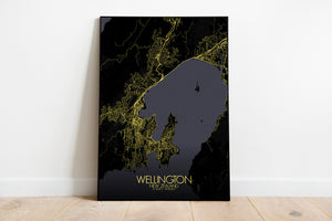 Mapospheres New York Night full page design poster city map