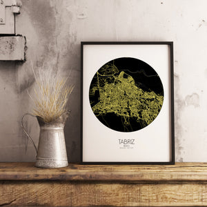 Mapospheres New York Night round shape design poster city map