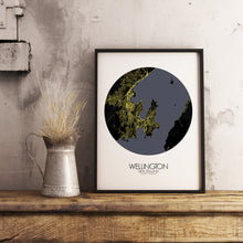Load image into Gallery viewer, Mapospheres New York Night round shape design poster city map