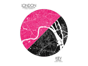 London Kiev Love Maps mapospheres