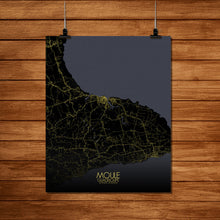 Load image into Gallery viewer, Mapospheres Moule Night Design full page design poster city map