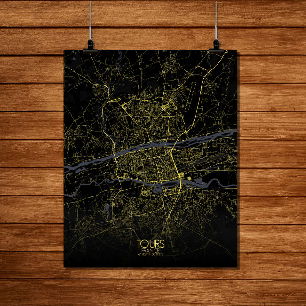 Mapospheres Tours Night Design full page design poster city map