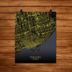 Mapospheres Toronto Night Design full page design poster city map