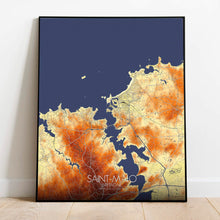 Load image into Gallery viewer, Mapospheres Saint Malo Elevation Map full page design poster city map