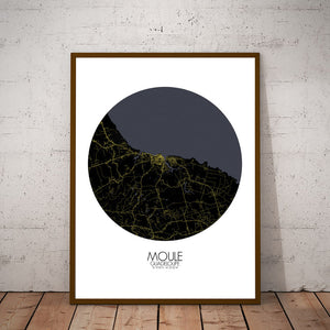 Mapospheres Moule Night round shape design poster city map