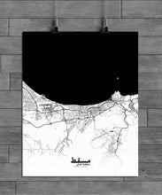 Load image into Gallery viewer, Muscat Black and White full page design poster city map