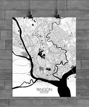 Load image into Gallery viewer, Aberdeen Black and White full page design poster city map