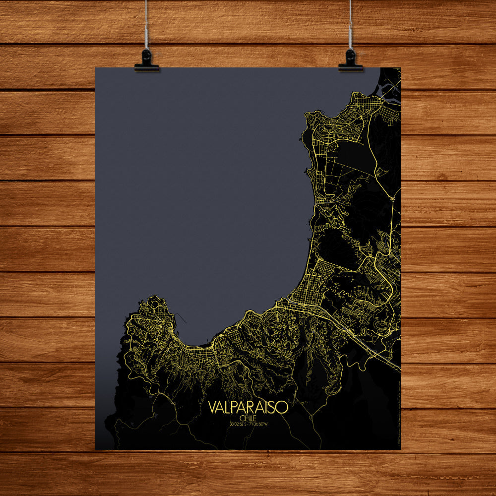 Aberdeen Night full page design poster city map