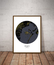 Load image into Gallery viewer, Mapospheres Venice Night round shape design poster city map