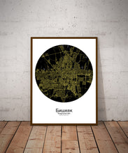 Load image into Gallery viewer, Bishkek Night round shape design poster city map