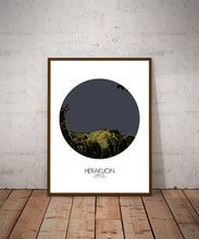 Load image into Gallery viewer, Heraklion Night round shape design poster city map