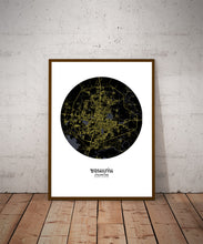 Load image into Gallery viewer, Khonkaen Night round shape design poster city map