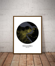 Load image into Gallery viewer, Paramaribo Night round shape design poster city map