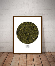 Load image into Gallery viewer, Mapospheres Paris Night round shape design poster city map