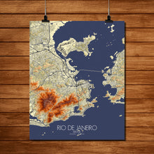 Load image into Gallery viewer, Mapospheres Rio de Janeiro Elevation map full page design poster city map