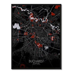 Mapospheres Dublin Night round shape design poster city map