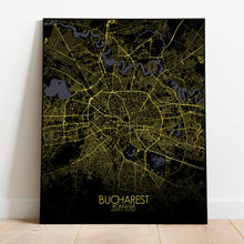 Load image into Gallery viewer, Mapospheres Dublin Night full page design poster city map
