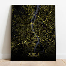 Load image into Gallery viewer, Mapospheres budapest Night full page design poster city map