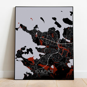 Red Dark Design | Custom your maps