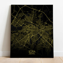 Load image into Gallery viewer, Mapospheres sofia Night full page design poster city map
