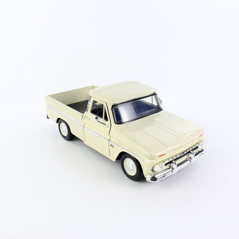 1966 Chevy C10 Fleetside Pickup Truck Beige Scale Model