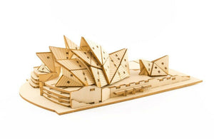 Ki-Gu-Mi Sydney Opera House Wooden Puzzle Art 3D DIY Model Hobby Build Kit