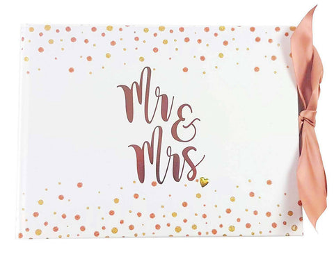 NEW Embellished MR & MRS Wedding Guestbook - Guest Book Keepsake Gift