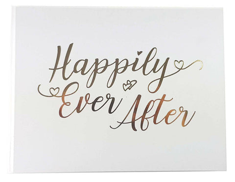 New HAPPILY EVER AFTER Wedding Guestbook - Guest Book Keepsake Gift