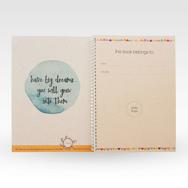 RHICREATIVE Kids School Days Record Book Journal Keepsake Photo Album Scrapbook