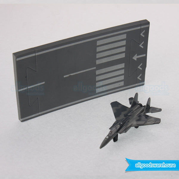 Runway 24 F-15 Eagle Collectable Diecast Military Toy Aircraft & Runway Section