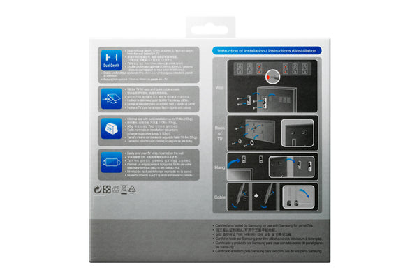 Samsung Slim Mini Wall Mount VESA Compatible with built-in leveller WMN450M