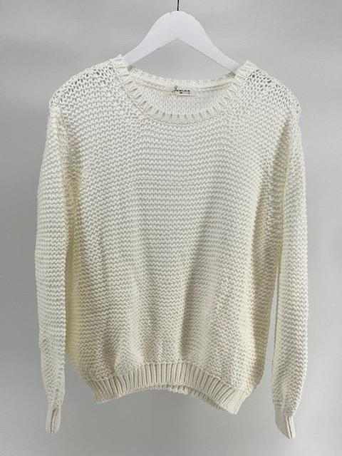 Off Shoulder sweater - Optical White