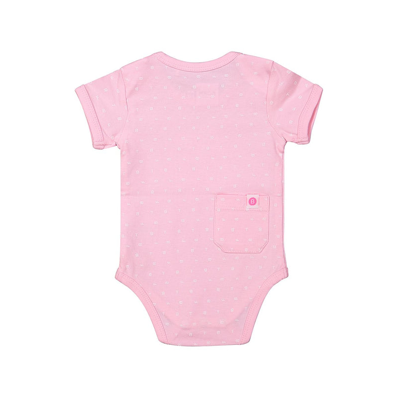 YARA – BABY BODY MIT MUSTER – IN ROSA
