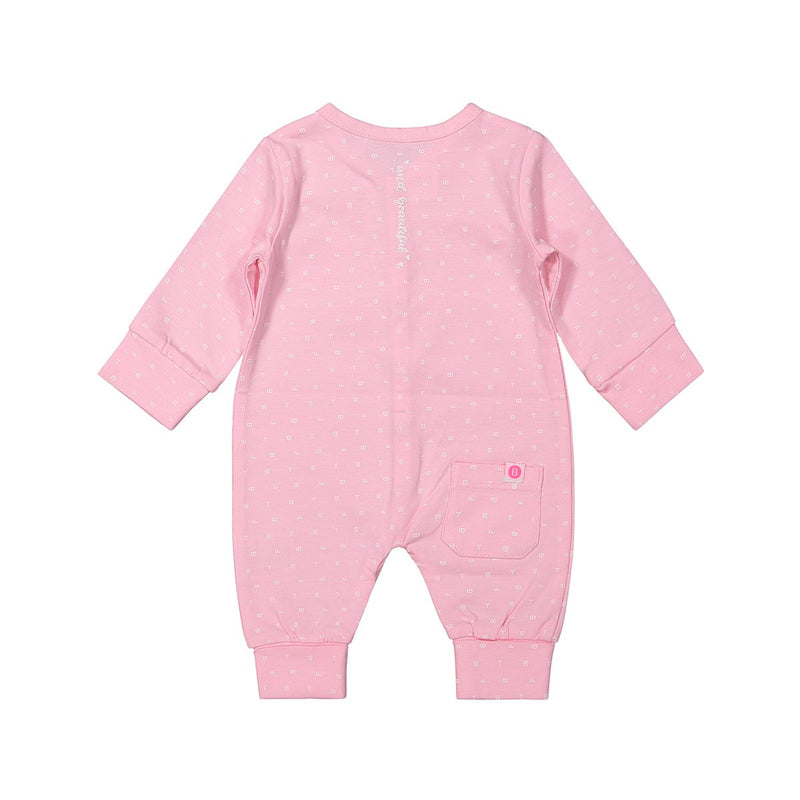 NORA – BABY BODY MIT MUSTER – IN ROSA