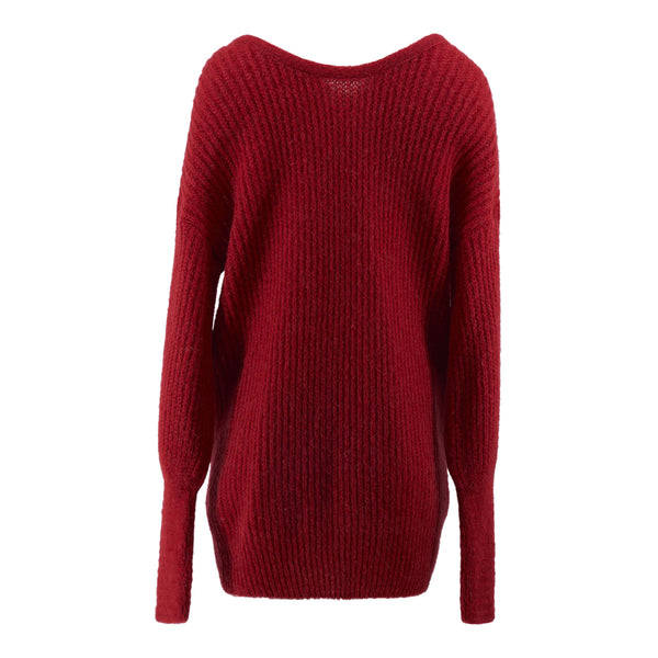 Alix - Sweater - Fire Red