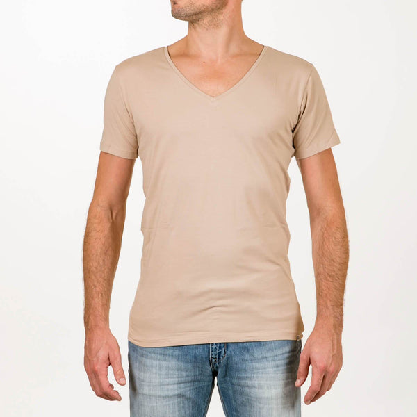 Sustainable t'shirt deep v-neck invisible 2-pack