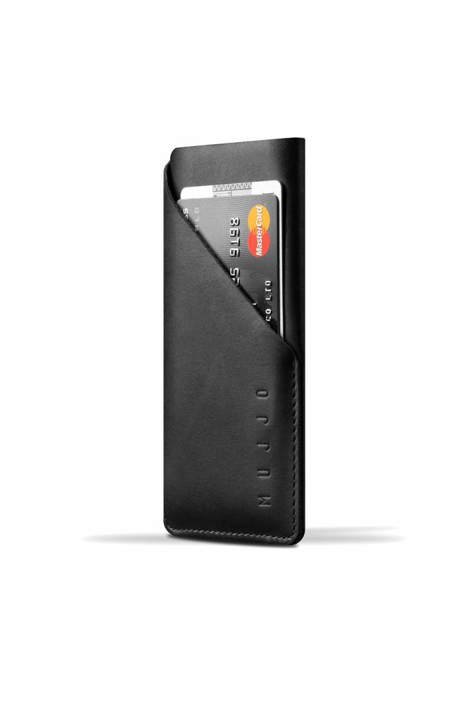 iPhone 6S & 6 Leather Wallet Sleeve Black