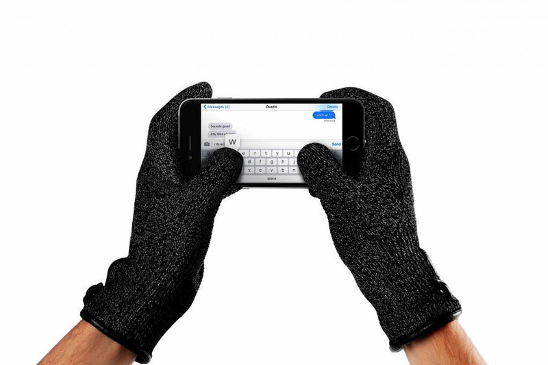 Single-Layered Touchscreen Gloves Black