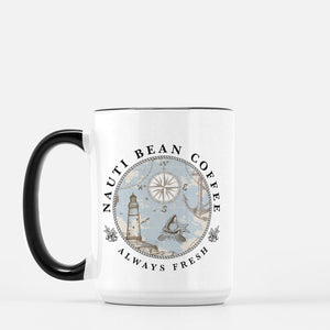 Mug Deluxe 15oz. (Black + White)