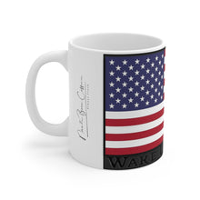 "Load image into Gallery viewer, ""Wake Up America"" - White Mug 11oz"