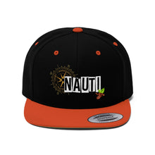 "Load image into Gallery viewer, Nauti ""Bean"" Compass - Unisex Flat Bill Hat"
