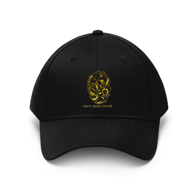 Nauti Pirate Octopus Anchor Hat - Gold