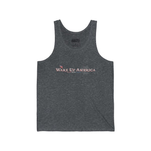 """Wake Up America"" - Men's Jersey Tank - Logo Front Only"