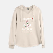 "Load image into Gallery viewer, Xmas ""Nauti But Nice"" Woman's Sweater/Long Sleeve"