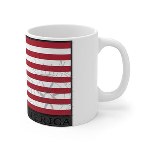 """Wake Up America"" - White Mug 11oz"