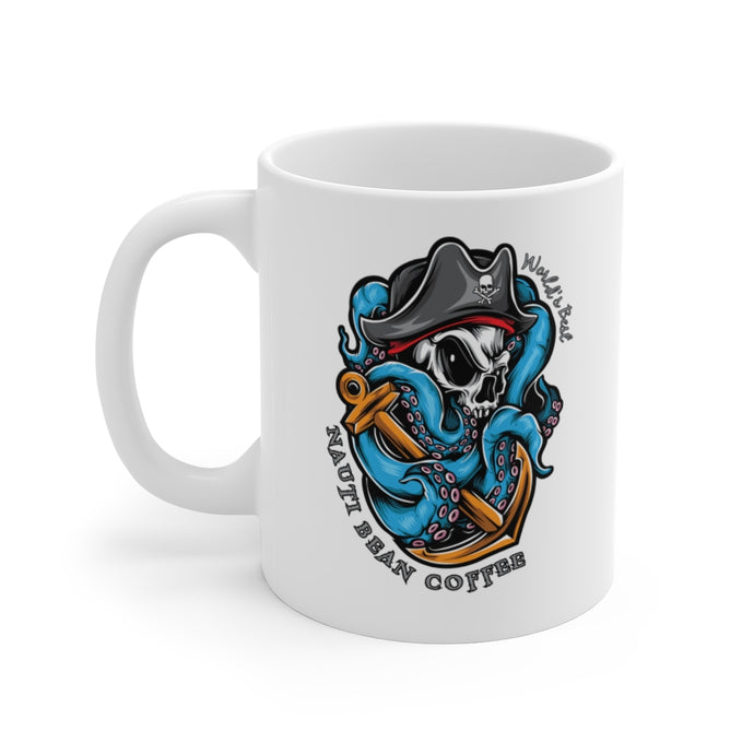 Pirate Logo - White Ceramic Mug 11 & 15  oz