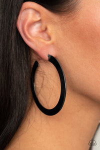 Gunmetal Hoop Earrings
